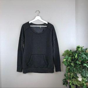 Zella Grey French Terry Pullover Sweatshirt